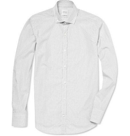 Simon Spurr Striped Shirt with Button Down Collar