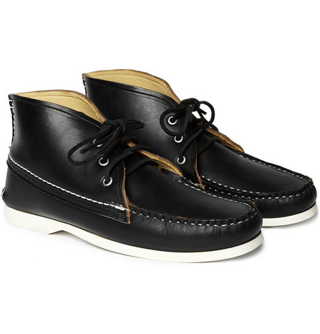 Quoddy Leather Chukka Boots