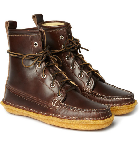 Quoddy Grizzly Leather Lace-Up Boots