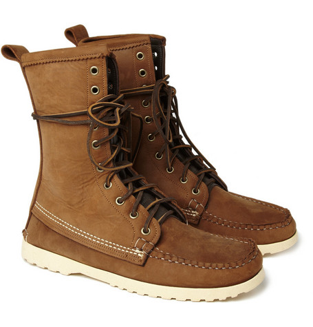 Quoddy Maine Woodsman Leather Lace-Up Boots