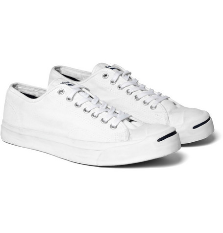 Converse Pique-Cotton Canvas Jack Purcell Sneakers