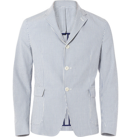 Band of Outsiders Cotton Seersucker Blazer