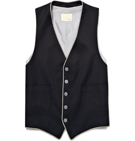 Band of Outsiders Single-Breasted Wool Waistcoat
