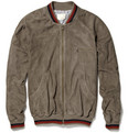 Band of Outsiders Suede Baseball Jacket