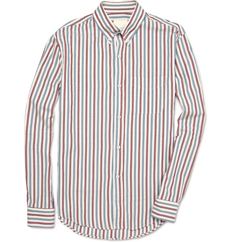 Band of Outsiders Slim Striped Shirt
