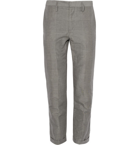 Marc by Marc Jacobs Plaid Linen Suit Trousers