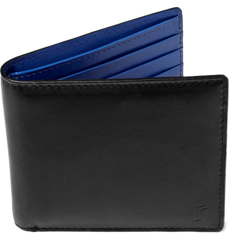 Richard James Leather Wallet with Contrast Lining