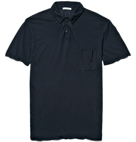 James Perse Jersey Polo Shirt