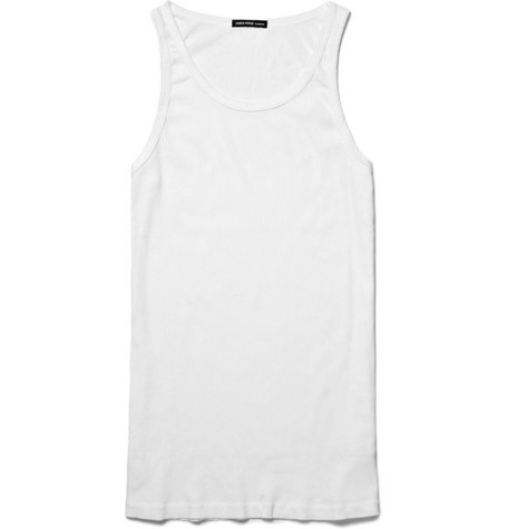 James Perse Ribbed Cotton Vest