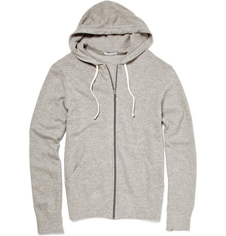James Perse Lightweight Zip Up Hooded Top