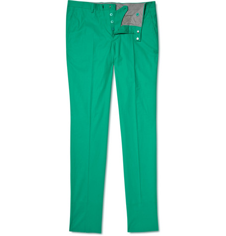 Jil Sander Slim Cotton-blend Trousers