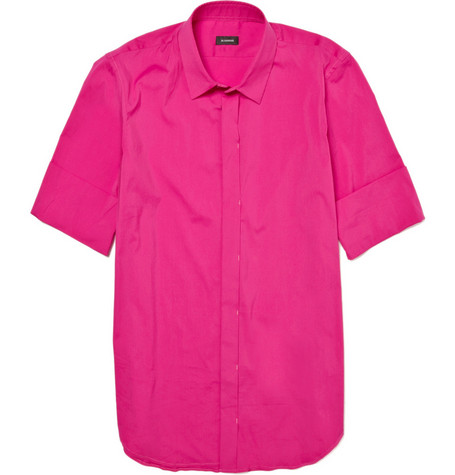 Jil Sander Cotton-Blend Short-Sleeved Shirt