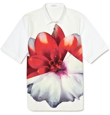 Jil SanderFlower Print Short Sleeved Shirt