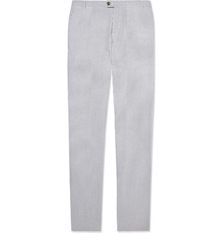 A.P.C. Cotton-Blend Seersucker Trousers