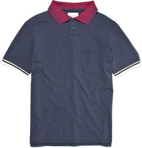 This is Not a Polo Shirt Contrast Collar Cotton Polo Shirt