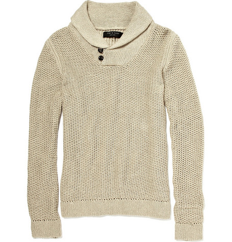 Rag & bone Fenwick Roll Neck Cotton-Blend Sweater