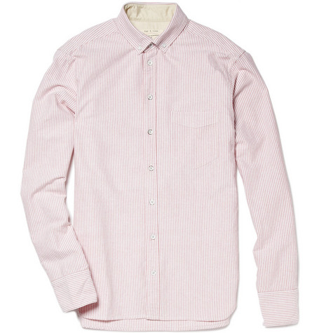 Rag & bone Striped Button-Down Collar Shirt