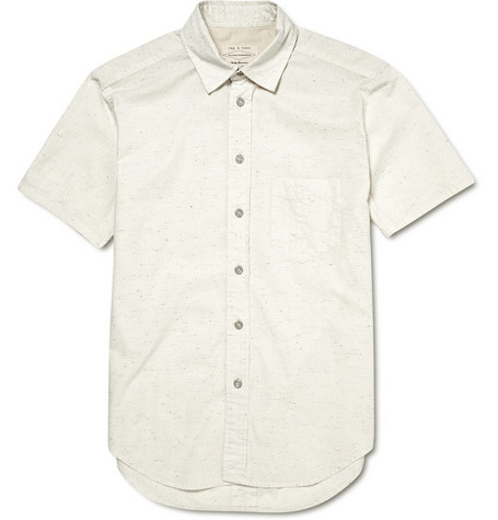 Rag & bone Yokohama Short-Sleeved Cotton Blend Shirt