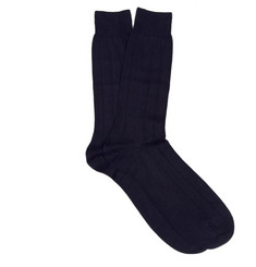Pantherella Ribbed Sea Island Cotton-Blend Socks