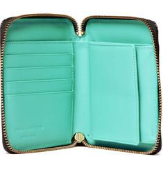 Comme des GarçonsGlossy Leather Billfold Zip Wallet