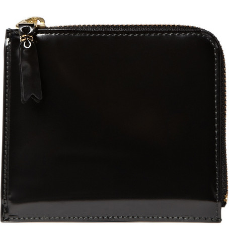 Comme des Garçons Small Glossy Leather Zip Wallet