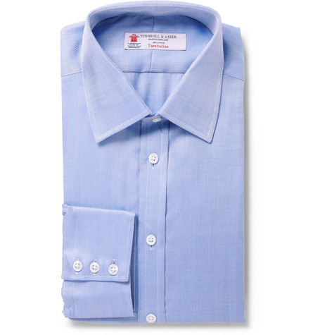 Turnbull & Asser Herringbone Cotton Shirt