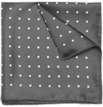 Turnbull & Asser Dark Grey Silk Pocket Square