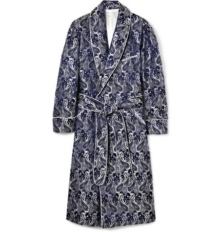 Turnbull & Asser Paisley Silk Dressing Gown