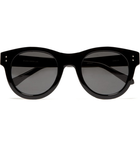 Linda Farrow Round Framed Acetate Sunglasses