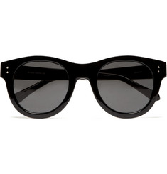 Linda Farrow Luxe Round Framed Acetate Sunglasses