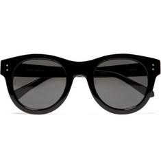Linda Farrow Luxe Round Framed Acetate Sunglasses