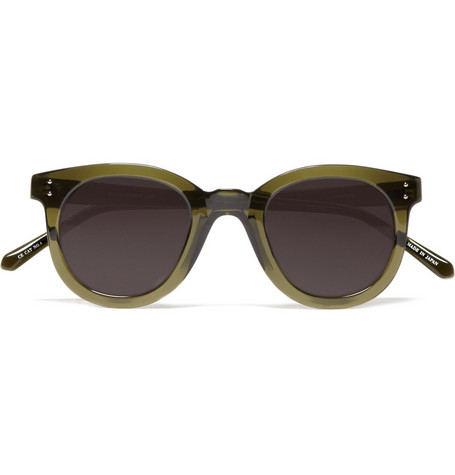 Linda Farrow Transparent Green Sunglasses