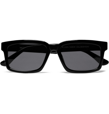 Raf Simons Rectangular Framed Acetate Sunglasses