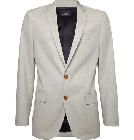 J.Crew Ludlow Striped Cotton Suit Jacket