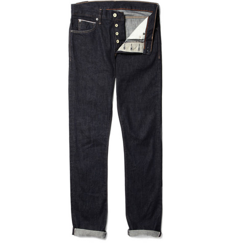 J.Crew 484 Slim-Fit Selvedge Denim Jeans