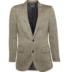 J.Crew Herringbone Linen Sportcoat In Ludlow Fit