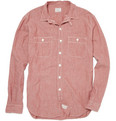 J.Crew Red Chambray Shirt