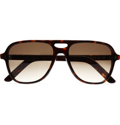 Cutler and Gross Tortoiseshell Aviator Sunglasses
