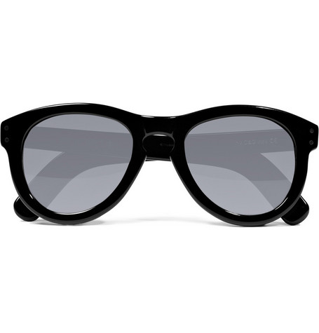 Cutler and Gross Black Rounded Acetate Sunglasses