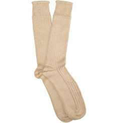 Corgi Ribbed Heavy Cotton Socks