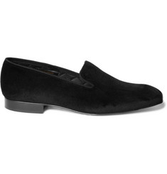 Brooks Brothers Velvet Slippers