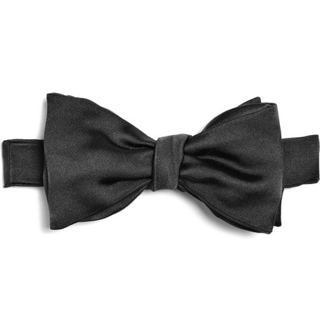 Brooks Brothers Black Silk Bow Tie