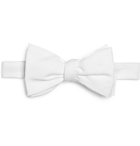 Brooks Brothers White Cotton Bow Tie