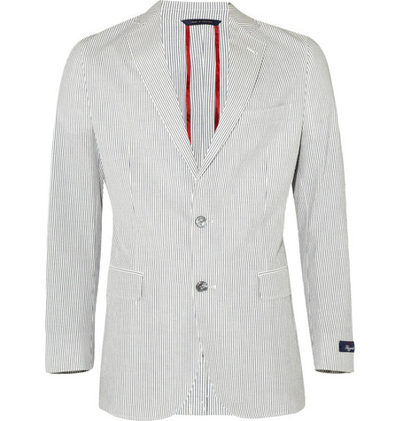 Brooks Brothers Fitzgerald Seersucker Cotton Blazer