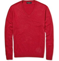 Brooks Brothers Cotton V-Neck Sweater