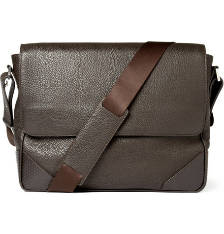 Alfred Dunhill Leather Messenger Bag