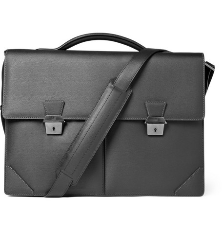 Alfred Dunhill Side Car Leather Briefcase