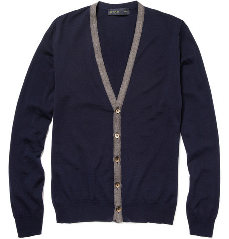 Etro Cardigan With Herringbone Trim