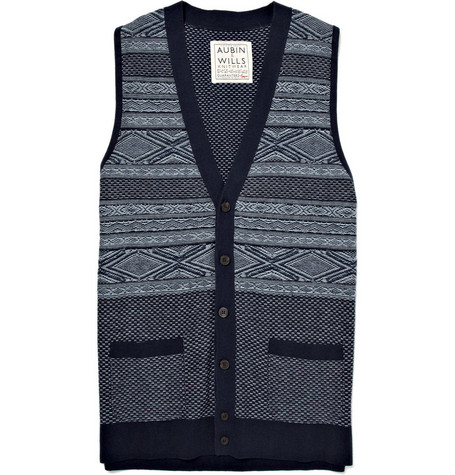 Aubin & Wills Wintersett Cotton-Blend Fairisle Waistcoat