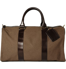A.P.C. Canvas and Leather Travel bag